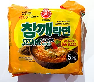 Ottogi Sesame Flavor Noodle 5ea, Chamke ramen 5ea,Korean Instant Noodle Soup Korea Ramen Ramyun