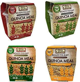 Earthly Grains Quinoa Ready to Eat MEAL variety pack - 8 oz servings 24 count Mega bundle Spork included