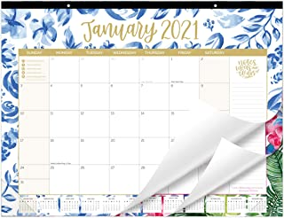 "bloom daily planners 2021 Calendar Year Desk/Wall Monthly Calendar Pad (January 2021 - December 2021) - Large 21"" x 16"" Ha..."