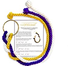 A Stunning Cord of Three Strands Wedding Knot with Ceremony Card by Wedding Bells Pro