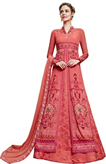 Pink Partywear Readymade Anarkali Style Suit