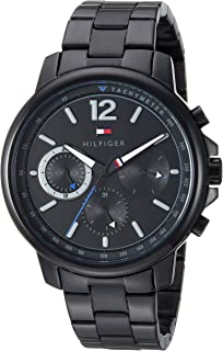 Tommy Hilfiger Men's Quartz Watch with Stainless-Steel Strap, Black, 19.1 (Model: 1791529)