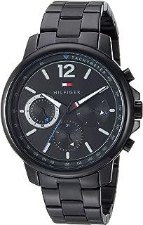 Tommy Hilfiger Men's Quartz Watch with Stainless-Steel Strap, Black, 19.1 (Model: 1791529)