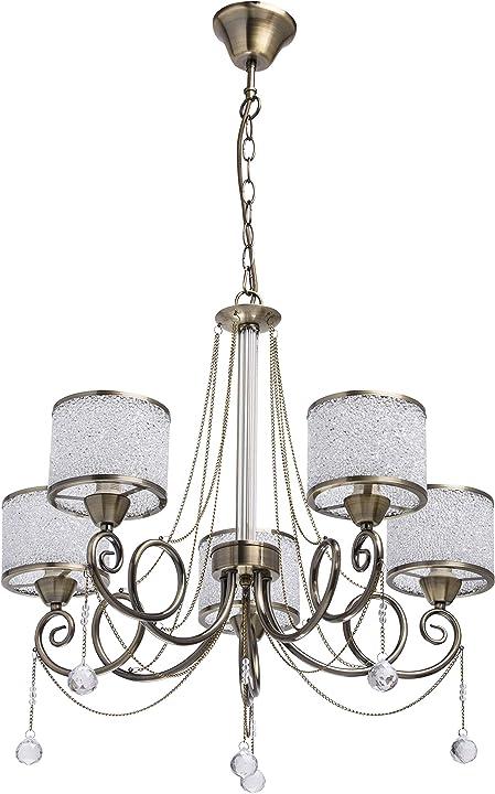 Lampadario da soffitto vintage in metallo colore ottone anticato mw-light 372013405