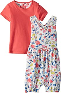 Womens Printed Overall and T-Shirt Set (Infant)