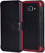 Mulbess Layered Samsung Galaxy A3 2017 Case Wallet,Folio Flip Leather Phone Case for Samsung Galaxy A3 2017 Cover, Black