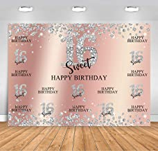 Aosto Photography Backdrops Birthday Photo Backdrop Sweet 16th Birthday Party Decor Banner Photography Background Props W-1251