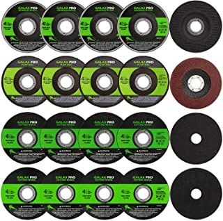 """GALAX PRO Grinding Discs, 20 Pack by 5PCS Grinding Wheel,10 PCS Cutting Wheel, 5 PCS Flap Disc with 4-1/2"""" Diameter and 7/..."""