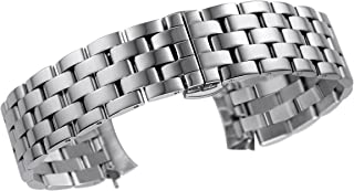 Cool Watch Bracelet Replacement with Curved End Superior 316L Solid Stainless Steel