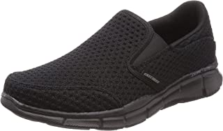 Skechers 52745 Equalizer Slickster - Black/Black (Textile) Mens Trainers 47 EU