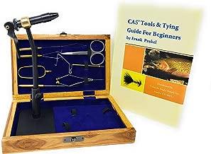 Colorado Anglers Z797 Wooden Fly Tying Standard Tool Kit, Fly Fishing Vise, Bobbin, Threader, Bodkin, Dubbing Twister, Hackle Pliers, Scissors, Whip Finisher