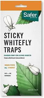 Safer Brand Sticky Whitefly Traps (3 Traps) 00340