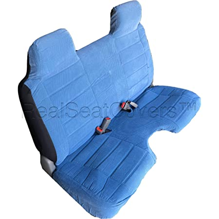 Blue RealSeatCovers for Front Bench Thick A25 Molded Headrest Small Notched Cushion Seat Cover for Toyota Pickup 1984-1989