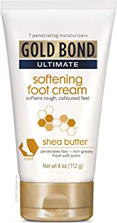 Gold Bond Ultimate Softening Foot Cream with Shea Butter, 4 Ounce, Leaves Rough, Dry,..