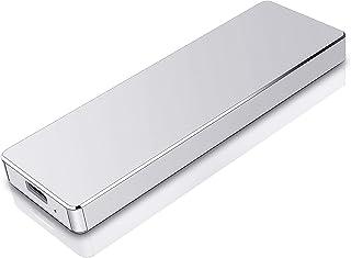 外付けHDD ハードディスク ポータブルHDD 外付けハードディス 超薄型 USB3.1/Type C 簡単接続 PC/Mac/Windows/XBox適用(2TB,銀)