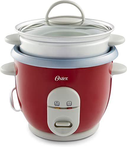 high quality Oster 6-Cup outlet sale Rice Cooker with online sale Steamer, Red (004722-000-000) online sale