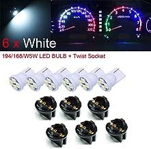 PA 6 x T10 168 194 Led instrument Panel Dash Light Bulb 1/2
