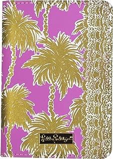 Lilly Pulitzer Passport Cover / Holder, Metallic Palms