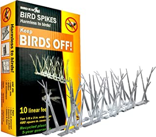 Bird-X B01BWK, Pack, Multi B01J1Y7BWK SP-10-NR Plastic Narrow 20 Foot Kit with Adhesive G, 10 Pack