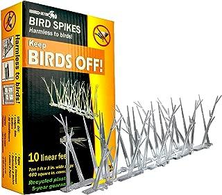 Bird-X B00VMR3SF4 SP-10-NR Plastic Narrow Bird Spikes 10 Foot Kit with Adhesive G, 2 Pack, Multi