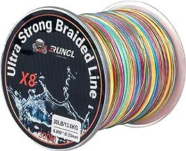 RUNCL Braided Fishing Line 8 Strands, Ultra Strong Braided Line - Smaller Diameter, Zero Memory, Zero Extension, Multiple ...