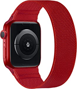 ENJINER Stretchy Nylon Solo Loop Bands Compatible with Apple Watch 38mm 40mm 41mm 42mm 44mm 45mm iWatch Series 7 6 SE 5 4 3 2 1 Strap, Sport Elastic Braided No Buckles Clasps Women Men Wristband