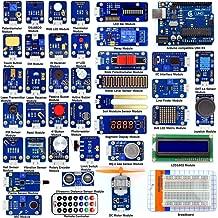 Adeept 42 Modules Ultimate Sensor Kit for Arduino UNO R3 Mega2560 Nano, Sensor Starter Kit for Arduino with Guidebook(PDF) Processing