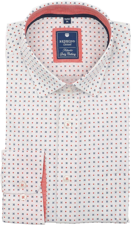 Bügelleicht Farben 410130 Redmond Slim Fit Herren Langarm Hemd versch