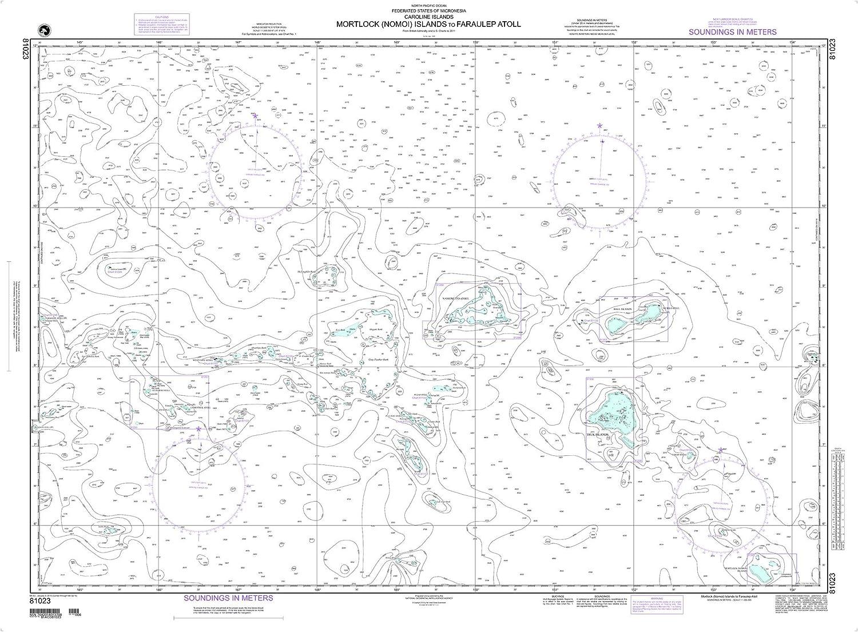 NGA Chart OFFicial store 81023 Namonuito Atoll 48.5