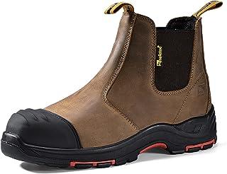 Safetoe Zapatos de Seguridad Hombres y Mujeres, M-8025 S3 Botas de Seguridad para Hombres con Cuero Impermeable, Puntera d...