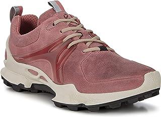 حذاء المشي المقاوم للماء للماء للماء Biom C Trail للنساء من ECCO ، جلد قرنفلي دمشقي وردي