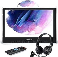 "NAVISKAUTO 10.1"" Car DVD Player with HDMI Input Wired Headphone Mounting Bracket, Car Headrest DVD Player Support Sync Scr..."