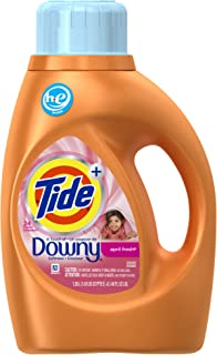 Tide Plus A Touch Of Downy April Fresh Scent High Efficiency Liquid Laundry Detergent Twin Pack 24 Loads, 46 Fluid Ounce