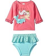 Mud Pie - Mermaid Rashguard Bikini Set (Toddler)