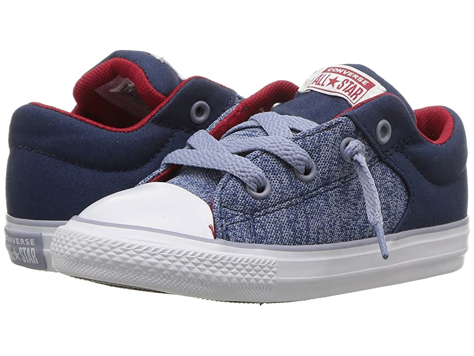 Converse Kids Chuck Taylor(r) All Star(r) High Street Heather Textile Fundamentals Slip (Infant/Toddler) (Navy/Glacier Grey/White) Boys Shoes