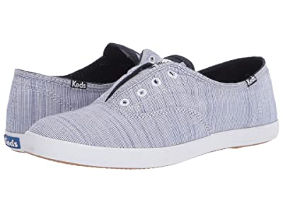 Keds Chillax Yarn-Dye Stripe (Blue) Women