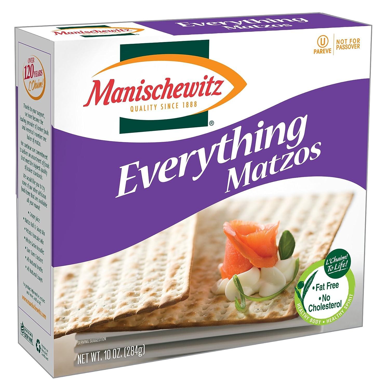 Super special price MANISCHEWITZ Everything Poppy Salt Matzo Onion favorite 10-Ou Garlic
