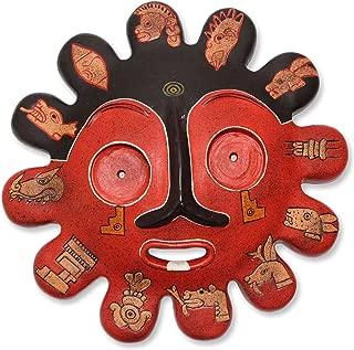 NOVICA 201474 Ardent Sun' Ceramic mask