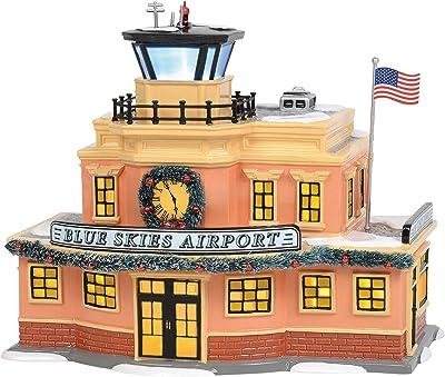 Department 56 Original Snow Village Blue Skies Airport Lit Building