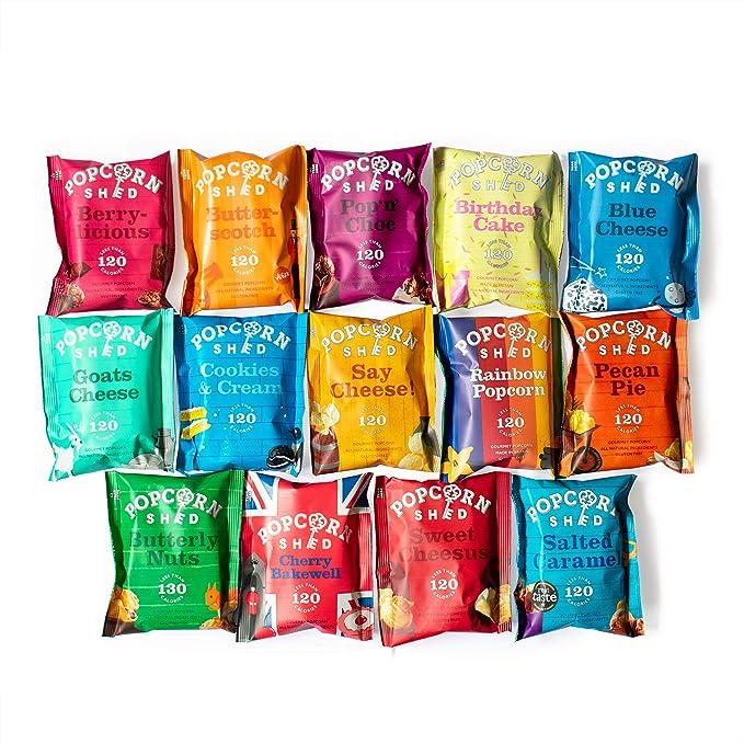 50 opinioni per Confezione da 14 pezzi | Include 7 gusti di Popcorn diversi | Snack 100%