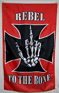 Nuge Rebel to The Bone Flag 5' X 3' Vertical Indoor Outdoor Banner
