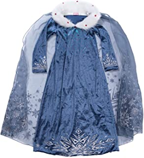YH New York Elsa Dress for Girls - Frozen Princess Elsa Costume for Kids - Cosplay Costumes (Age 4)