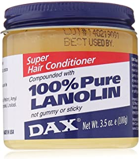 DAX super hair conditioner 100% PURE LANOLIN Not gummy or sticky 3.5OZ