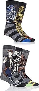 SockShop Men's 5 Pair Star Wars Yoda, Chewbacca, C3P0, R2-D2 and Han Solo Socks