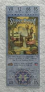 Super Bowl XXXIII (1999) - Replica Game Ticket with Rigid Holder - Denver Broncos vs Atlanta Falcons