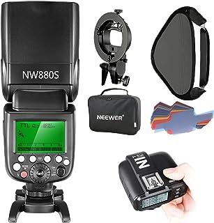 Neewer 2.4G Wireless 1/8000 HSS TTL Master/Slave Flash Speedlite Kit لكاميرا سوني مع حذاء مي جديد، يشمل: NW880S Flash، N1T...