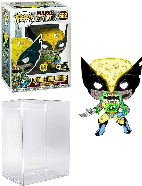 Zombie Wolverine Entertainment Earth Exclusive Glow in The Dark #662 Marvel Zombies: Vinyl Figure (Includes Ecotek Pop Box Protector Case)