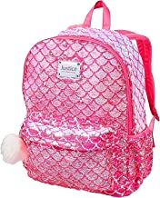 Justice Flip Sequin Backpack Mermaid Pretty Pink Poly