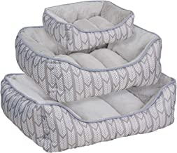 Me & My Pets Grey Aztec Dog Bed - Choice of Size