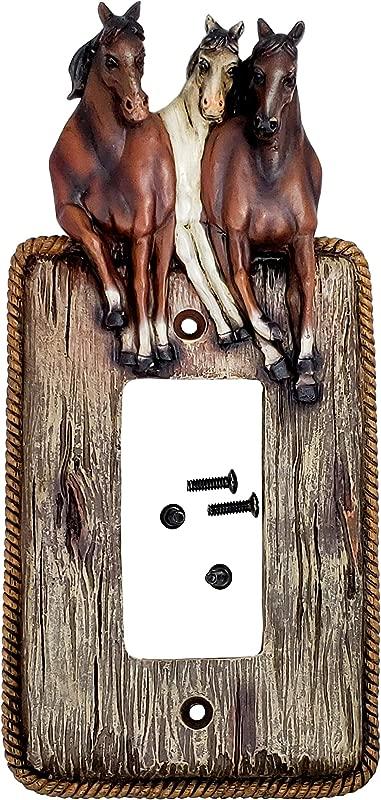 Rainbow Trading RA 4389 Three Horses Single Rocker Decorative Wall Plate